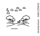 landscape of trees line... | Shutterstock .eps vector #1681120642