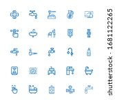 editable 25 tap icons for web...   Shutterstock .eps vector #1681122265