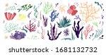underwater sea world dwellers ... | Shutterstock .eps vector #1681132732