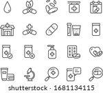set of medicine icons  pharmacy ... | Shutterstock .eps vector #1681134115