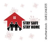 stay safe  stay home  design... | Shutterstock .eps vector #1681146355