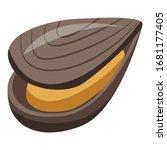 Mollusk Mussels Icon. Isometri...