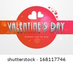 happy valentines day background ... | Shutterstock .eps vector #168117746