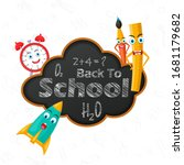 back to school concept with... | Shutterstock .eps vector #1681179682