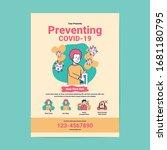 preventing covid 19 virus flyer ... | Shutterstock .eps vector #1681180795