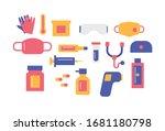 hospital equipment flat design...   Shutterstock .eps vector #1681180798
