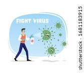 fight against covid 19 corona... | Shutterstock .eps vector #1681183915