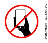 no texting sign   don't use... | Shutterstock .eps vector #1681200142