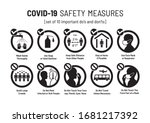 set of corona virus covid 19... | Shutterstock .eps vector #1681217392