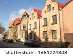 riga  latvia 3 19 2020 typical... | Shutterstock . vector #1681224838