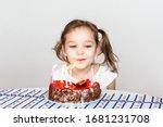 Little Girl And Birthday Cake ...