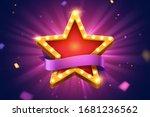 retro marquee light star...   Shutterstock .eps vector #1681236562