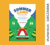 kids summer camp holiday flyer | Shutterstock .eps vector #1681236868