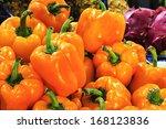 nice fruit background | Shutterstock . vector #168123836