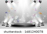 winner background with signs of ... | Shutterstock .eps vector #1681240078