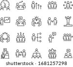 set of business icons  teamwork ... | Shutterstock .eps vector #1681257298