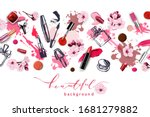 spring sale with cherry blossom ... | Shutterstock .eps vector #1681279882