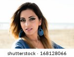 outdoor portrait of a young... | Shutterstock . vector #168128066