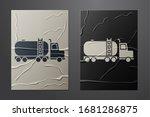 white tanker truck icon... | Shutterstock .eps vector #1681286875