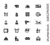 hotel vector icons on white...   Shutterstock .eps vector #1681296505