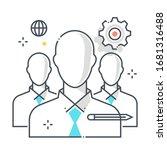 team leader related color line... | Shutterstock .eps vector #1681316488
