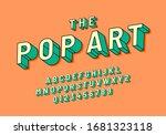 Pop Art Vintage 3d Font In...