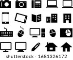 business icon set for camera ... | Shutterstock .eps vector #1681326172
