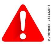exclamation danger sign | Shutterstock . vector #168132845