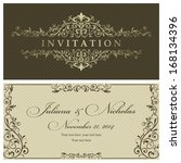 wedding invitation cards... | Shutterstock .eps vector #168134396