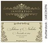 wedding invitation cards... | Shutterstock .eps vector #168134396