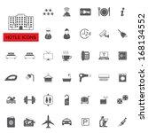 hotel icons set | Shutterstock .eps vector #168134552