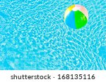 multicolored ball and turquoise ... | Shutterstock . vector #168135116