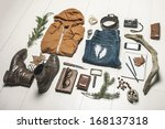 still life of casual man. ... | Shutterstock . vector #168137318