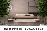 Zen Interior With Potted Bamboo ...