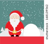 santa claus with merry...   Shutterstock .eps vector #168139562