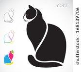 vector image of an cat on white ... | Shutterstock .eps vector #168139706