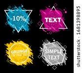 set of four grunge splash... | Shutterstock .eps vector #1681398895