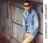 hipster style guy | Shutterstock . vector #168141695