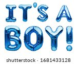 Phrase It's A Boy Made Of Blue...