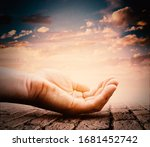 hand with magical glow. help... | Shutterstock . vector #1681452742