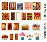 dessert sweets  chocolate ... | Shutterstock .eps vector #1681457158