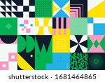 neo modernism artwork pattern... | Shutterstock .eps vector #1681464865