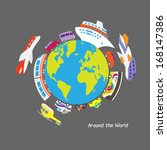 around the world | Shutterstock . vector #168147386