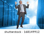 businessman posing with arms... | Shutterstock . vector #168149912