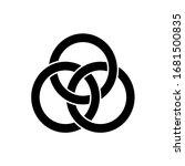 3 Interlocking Circles. Black...