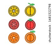 Icons Of A Tomato  Orange  And...