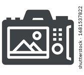 back camera black icon on white ...   Shutterstock .eps vector #1681537822