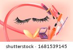 cosmetic poster for banner with ...   Shutterstock .eps vector #1681539145