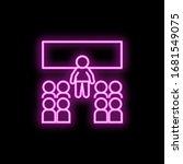 classroom neon icon. simple...
