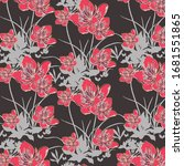 trendy floral pattern.... | Shutterstock .eps vector #1681551865